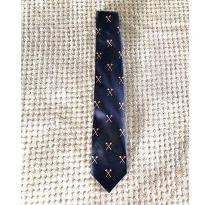 J. Crew Lacrosse Silk Neck Tie
